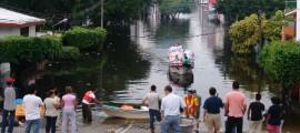 inundación que afectó a Tabasco