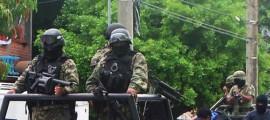 enfrentamiento con militares