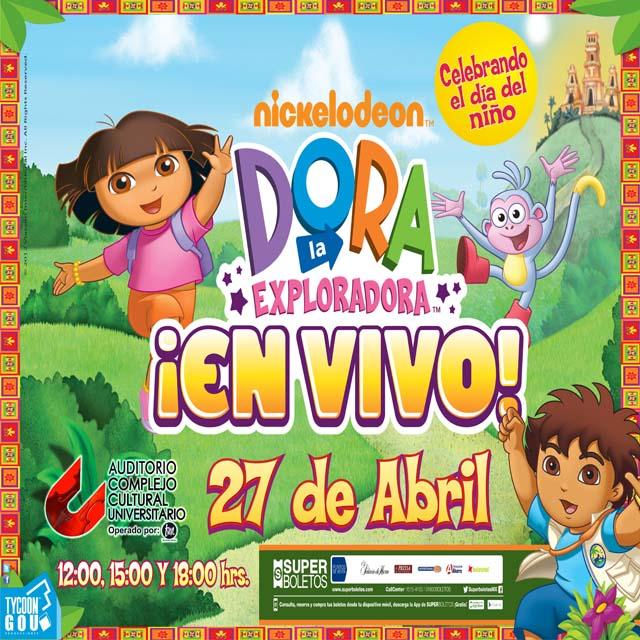 Dora la Exploradora visita Puebla el 27 de abril 2013
