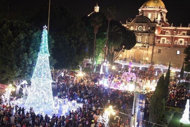 Navidad en el zócalo de Puebla