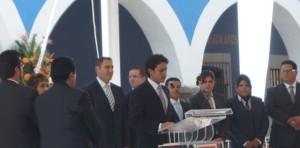 José Juan Espinosa en compañía de Rafael Moreno Valle