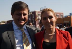 Francisco Covarrubias y Erika de la Vega