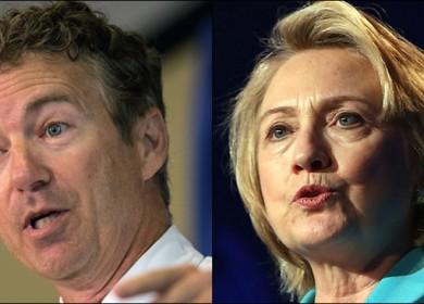 Rand Paul y Hillary Clinton