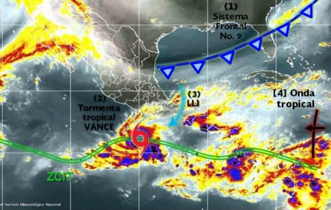 tormenta tropical Vance