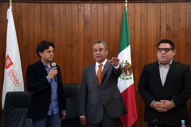 Regidor Mario Jiménez Blanca en sustitución de Eduardo Blanca Dieste Foto: H. Ayuntamiento de San Pedro Cholula