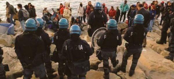 desalojan a refugiados en frontera entre Italia y Francia